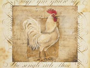 Rustic Farmhouse Rooster I by Kimberly Poloson