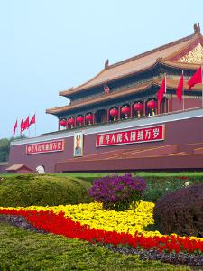 Heavenly Gate Entrance to Forbidden City During National Day Festival, Beijing, China, Asia by Kimberly Walker