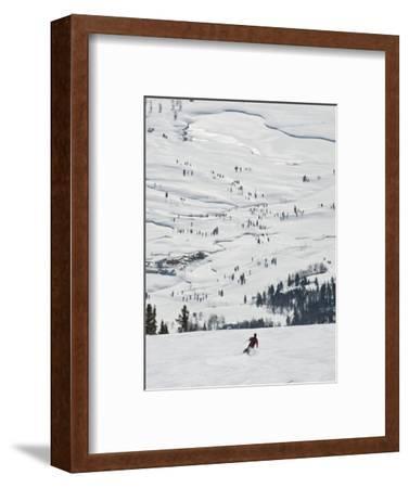 Skier at Jackson Hole Ski, Jackson Hole, Wyoming, United States of America, North America