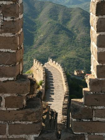 Watchtower View of Great Wall of China, UNESCO World Heritage Site, Huanghuacheng (Yellow Flower),