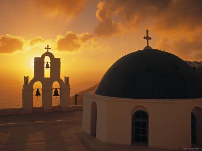 Kimis Theotokov Church, Santorini, Cyclades Islands, Greece-Walter Bibikow-Photographic Print