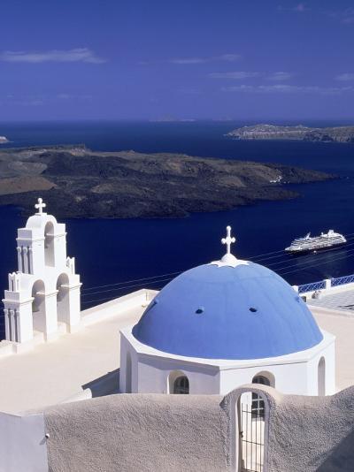 Kimisis Theotokov Church, Santorini, Greece-Walter Bibikow-Photographic Print