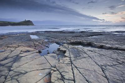 Kimmeridge Bay on the Dorset Coast at Sunset, Jurassic Coast, UNESCO Site, Dorset, England, UK-Julian Elliott-Photographic Print