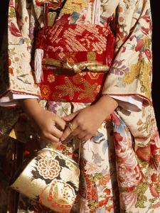 Kimono and Handbag, Traditional Dress, Japan