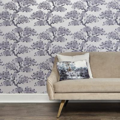 Kimono Blue Silk Self-Adhesive Wallpaper