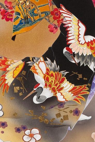 Kimono Tsuru-Haruyo Morita-Art Print