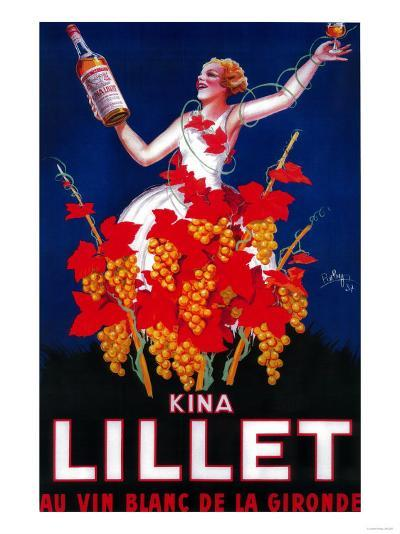 Kina Lillet Vintage Poster - Europe-Lantern Press-Art Print