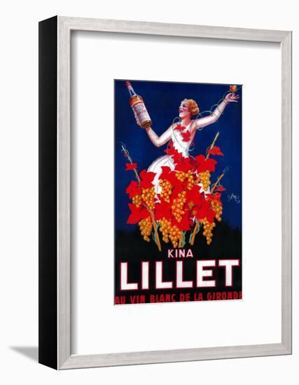 Kina Lillet Vintage Poster - Europe-Lantern Press-Framed Art Print