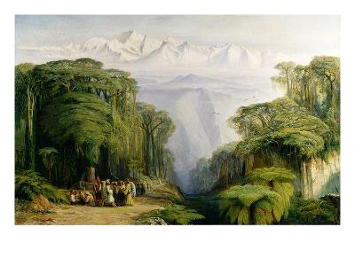 Kinchinjunga from Darjeeling, 1879-Edward Lear-Giclee Print