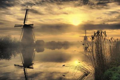 Kinderdijk before Daybreak-StehliBela-alias-scarbody-Photographic Print