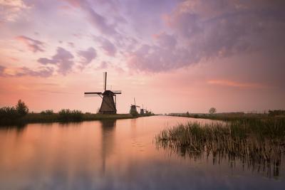 Kinderdijk, Netherlands the Windmills of Kinderdijk Resumed at Sunrise.-ClickAlps-Photographic Print