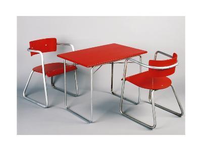 Kindergarten Table and Chairs, 1930-1940-Giuseppe Terragni-Giclee Print