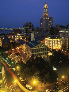 Aerial View, Fanueil Hall Marketplace, Boston, MA by Kindra Clineff