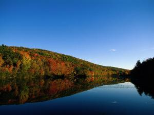 Fall Foliage and Lake, the Berkshires, MA by Kindra Clineff