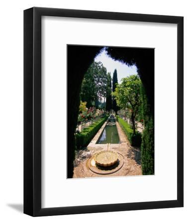 Garden and Fountain, Granada, Spain