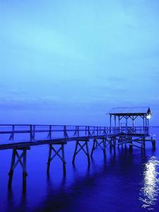 Pier, Mississippi Gulf, Bay St. Louis, MS by Kindra Clineff