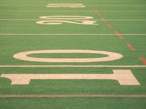 The Ten Yard Line on a Football Field by Kindra Clineff