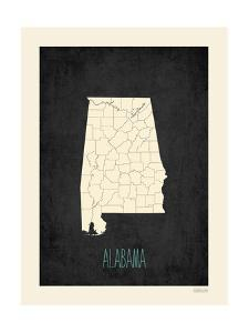Black Map Alabama by Kindred Sol Collective