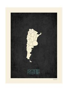 Black Map Argentina by Kindred Sol Collective