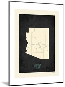 Black Map Arizona by Kindred Sol Collective