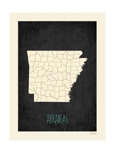 Black Map Arkansas by Kindred Sol Collective