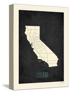 Black Map California by Kindred Sol Collective