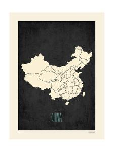 Black Map China by Kindred Sol Collective