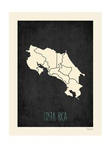 Black Map Costa Rica by Kindred Sol Collective