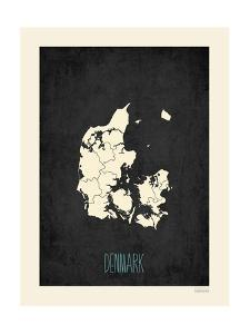 Black Map Denmark by Kindred Sol Collective