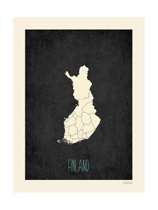 Black Map Finland by Kindred Sol Collective