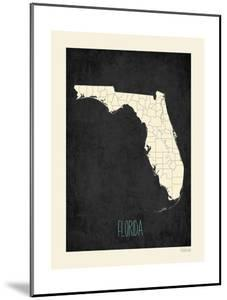 Black Map Florida by Kindred Sol Collective