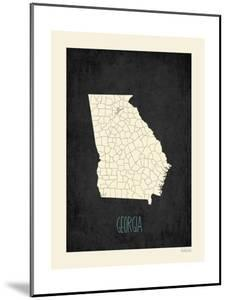 Black Map Georgia by Kindred Sol Collective