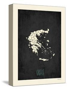 Black Map Greece by Kindred Sol Collective