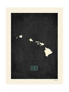Black Map Hawaii by Kindred Sol Collective