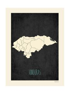 Black Map Honduras by Kindred Sol Collective