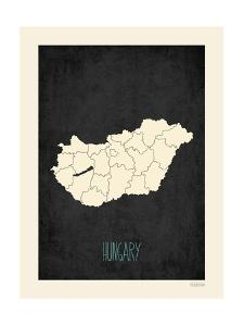 Black Map Hungary by Kindred Sol Collective