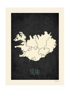Black Map Iceland by Kindred Sol Collective