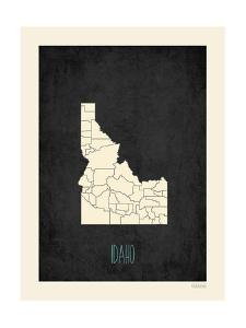 Black Map Idaho by Kindred Sol Collective