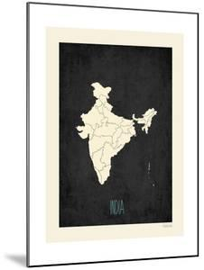 Black Map India by Kindred Sol Collective