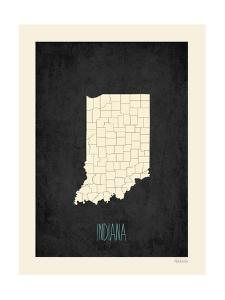Black Map Indiana by Kindred Sol Collective
