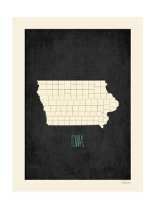 Black Map Iowa by Kindred Sol Collective