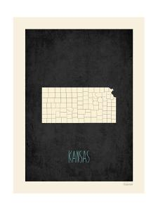 Black Map Kansas by Kindred Sol Collective