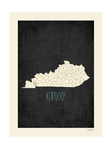 Black Map Kentucky by Kindred Sol Collective