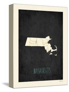 Black Map Massachussetts by Kindred Sol Collective