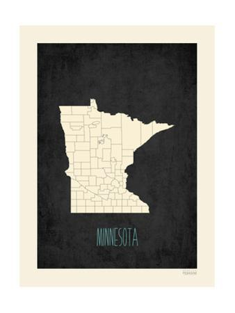 Black Map Minnesota by Kindred Sol Collective