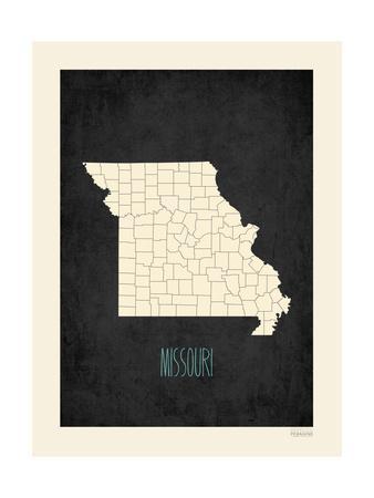 Black Map Missouri