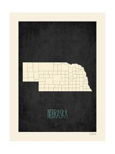 Black Map Nebraska by Kindred Sol Collective