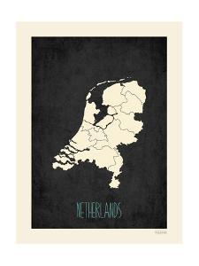 Black Map Netherlands by Kindred Sol Collective