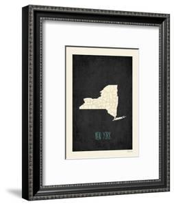 Black Map New York by Kindred Sol Collective
