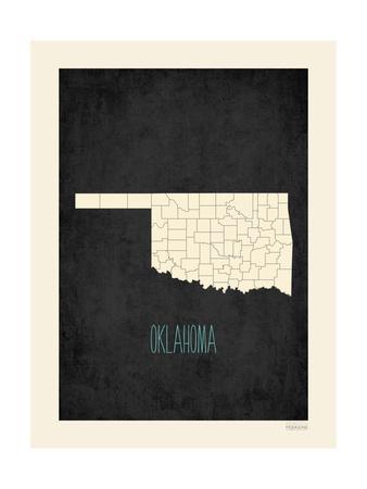Black Map Oklahoma